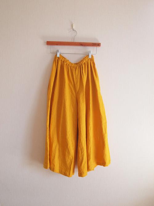 予約販売●●  Linen  Long culotte   ●●mustard