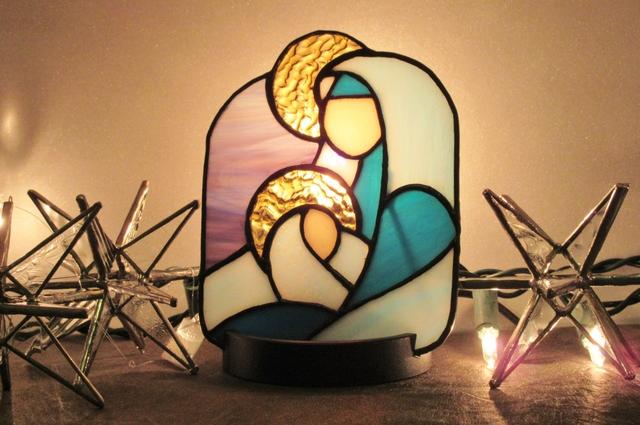 聖母子のパネルライト