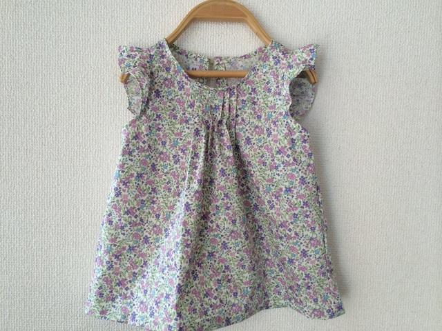 小花柄フリルブラウス〜サイズ100〜
