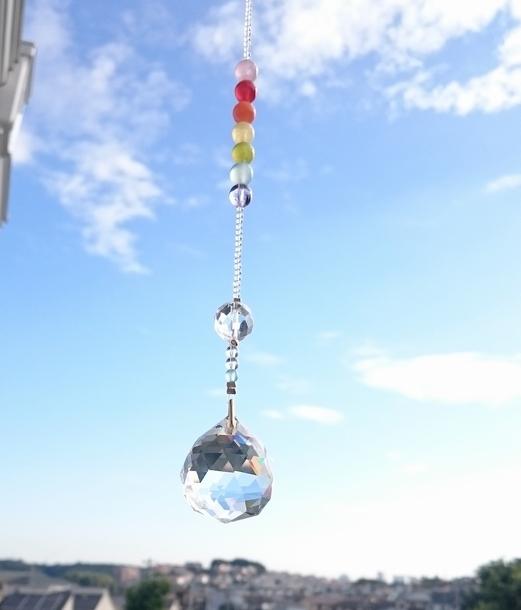 虹のサンキャッチャー〜7つの願い事石