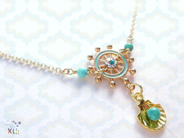 Moroccan Style Rudder Turquoise Necklace