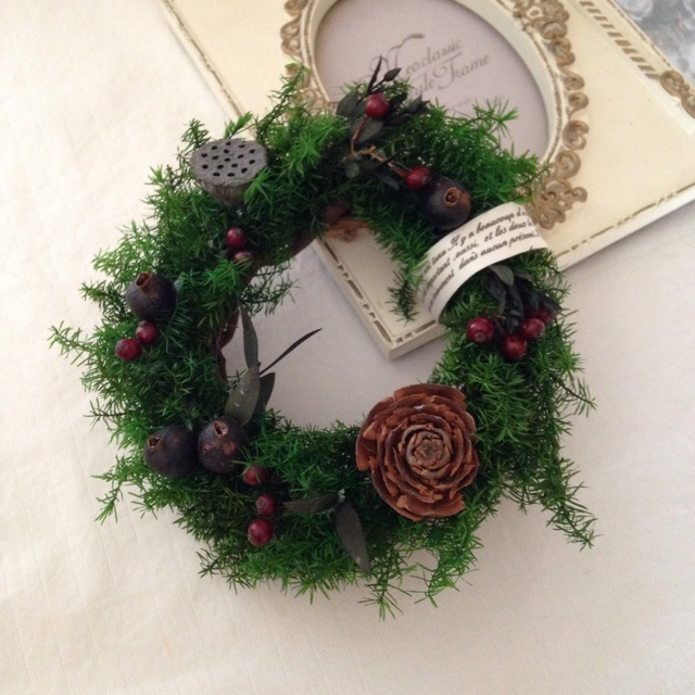 ヒムロスギのXmas mini wreath