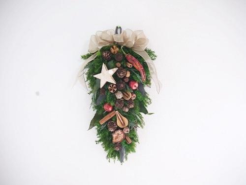 クリスマス壁飾り・ウッドミックス