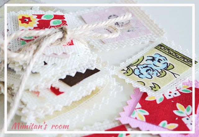 【Sale!!】 Cuteなファブリック切手