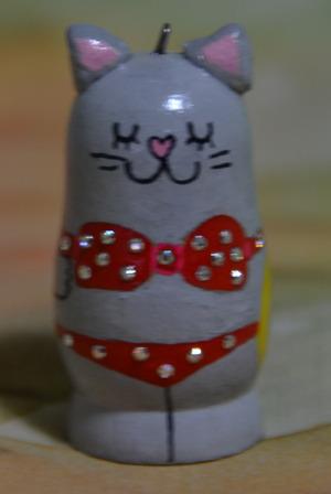 ロシアンブルー猫 ビキニ