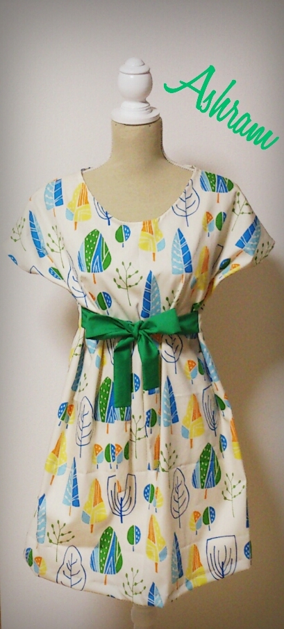 simple*longtunic Forest Park ~whitebeige~