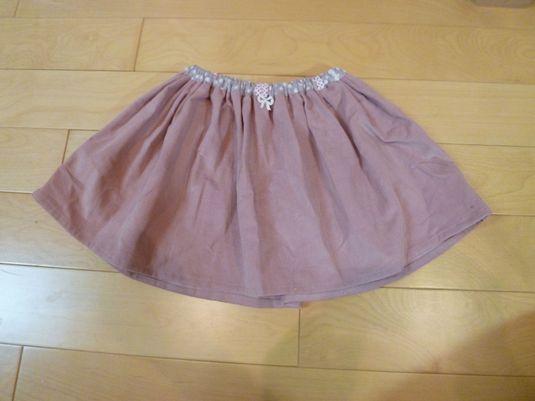 コーデュロイスカート size100 ピンク
