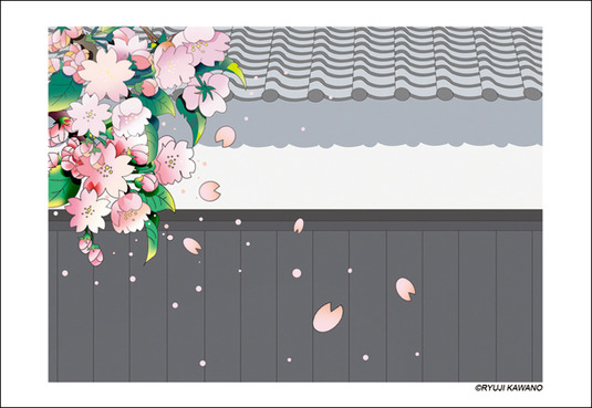 和風_花ポストカード5枚セット