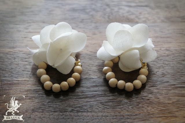 earring 【 布花イヤリング hydrangea ...