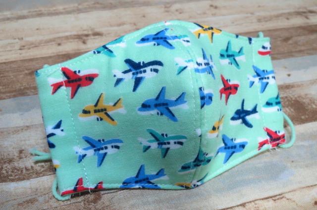 子供用立体マスクSサイズ 飛行機 給食・風邪予防に ダブルガーゼ 子供用マスク