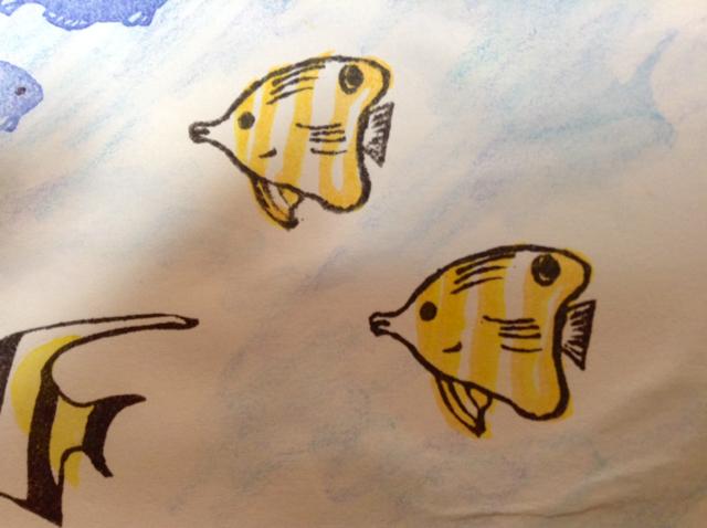 消しゴムはんこの熱帯魚2