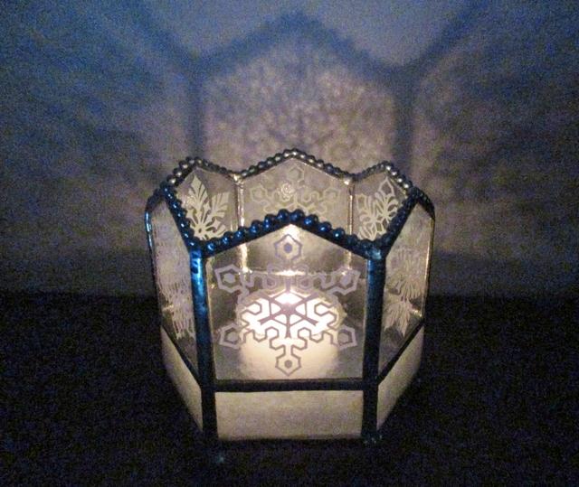 冬のキャンドルホルダー(雪の結晶)