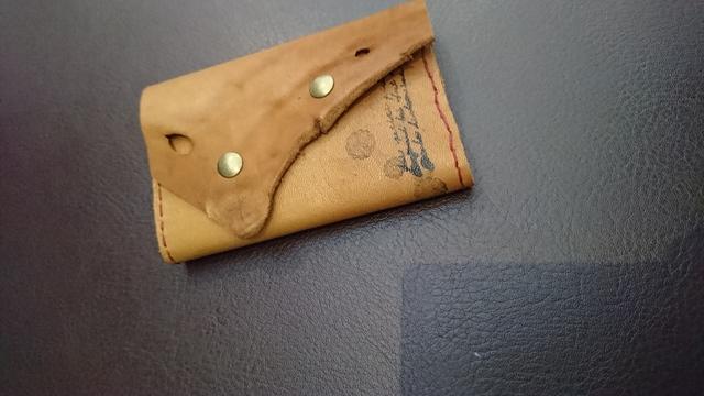 本革ファイルカードケース10ポケットキャメルブラウン