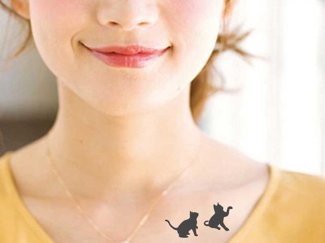 【再販×2】タトゥーシール(猫)ver?