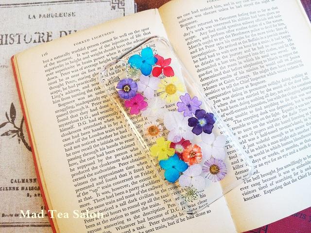 【iphone5c】小花のカラフルiphoneカバー