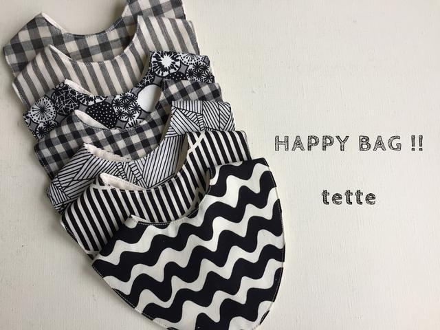 【HAPPY  BAG!!】スタイ7枚set*モノトーン?