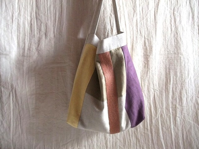 itoiro bag (cream purple)