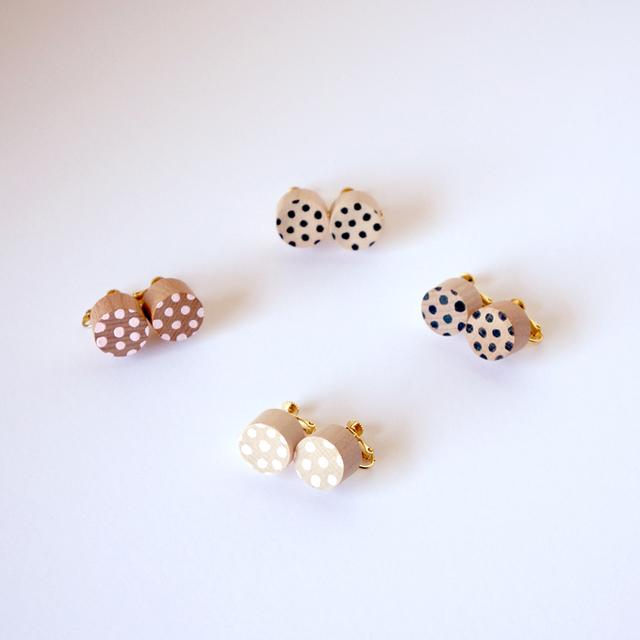 rondo earring - dot ( ブラック / ピ...