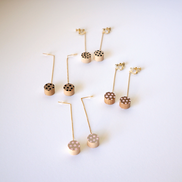 swing rondo pierce & earring - dot (...