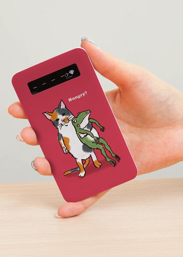 モバイルバッテリー なかよし(ピンク)