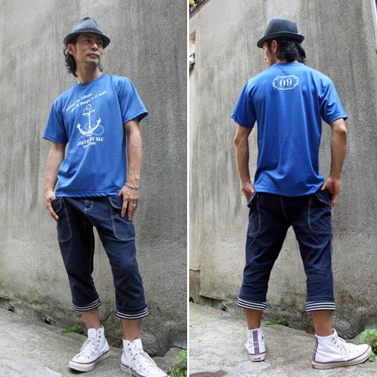 【JIKUU】 メンズドライTシャツ『アンカー』
