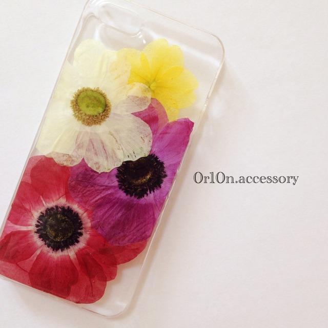 iphone5/5sケース【アネモネ】