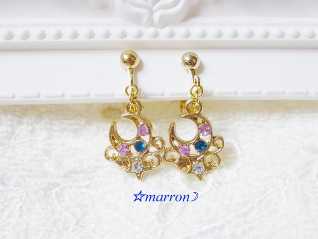 romantic moon&starイヤリング(ピアス)★