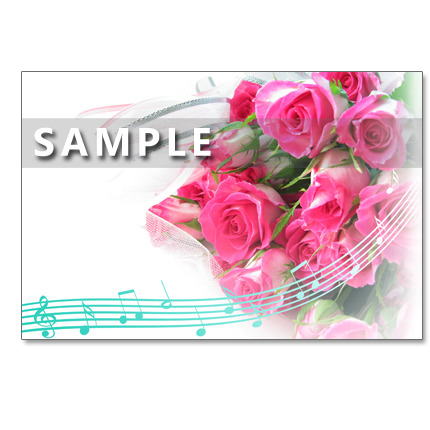 1108)  ピンクのバラのブーケたち  ポストカード5枚組