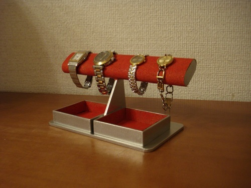 だ円ダブルでかいトレイレッド腕時計スタンド ak-design