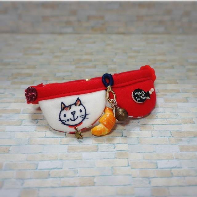 ★KSK様専用★ 猫とお魚ボタン首輪(ス...