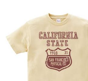 カリフォルニア?ステイト カレッジ WS〜WL S〜XL Tシャツ【受注生産品】
