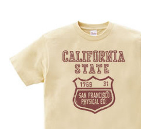 カリフォルニア?ステイト カレッジ 150.160(女性M.L) Tシャツ【受注生産品】