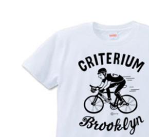ブルックリン★自転車レース XS(女性XS〜S)   Tシャツ【受注生産品】