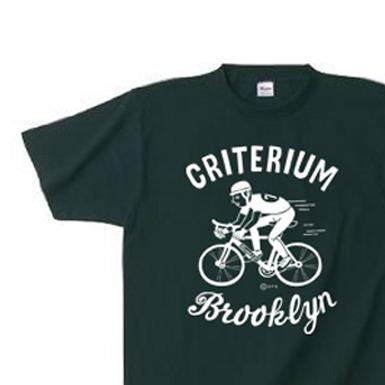 ブルックリン★自転車レース 150.160.(女性M.L) S〜XL Tシャツ【受注生産品】