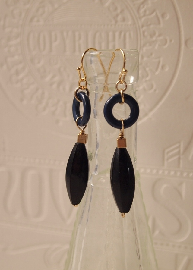 Navy & black earrings