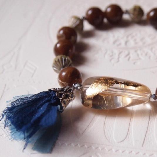 Brown & gold bracelet