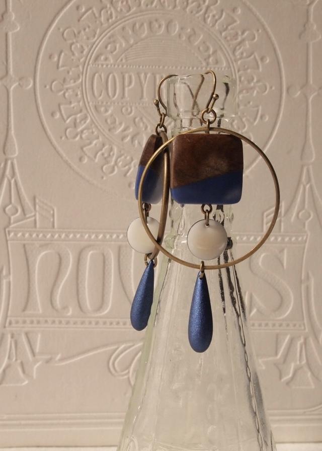 Square & circle earrings