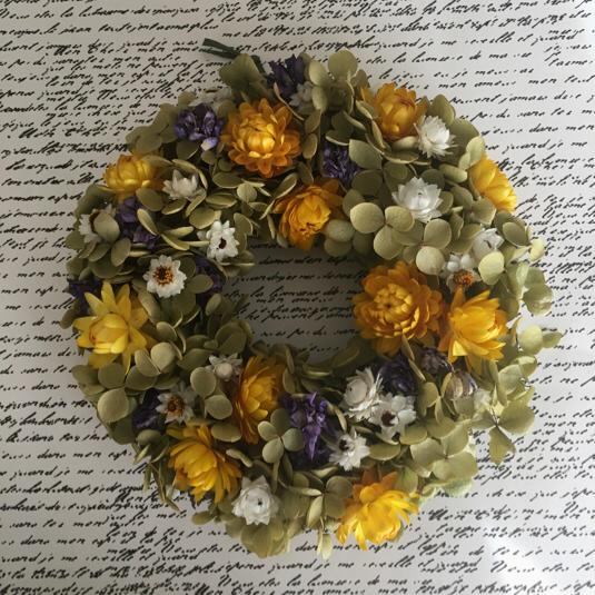 紫陽花アナベルナチュラルリース