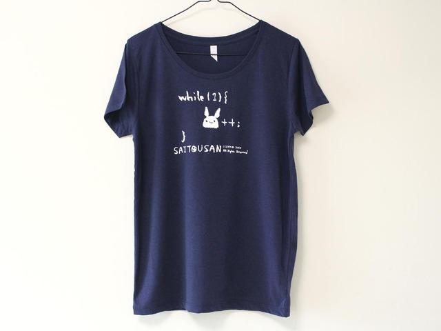 サイトウサン++Tシャツ ネイビー(girls-M)