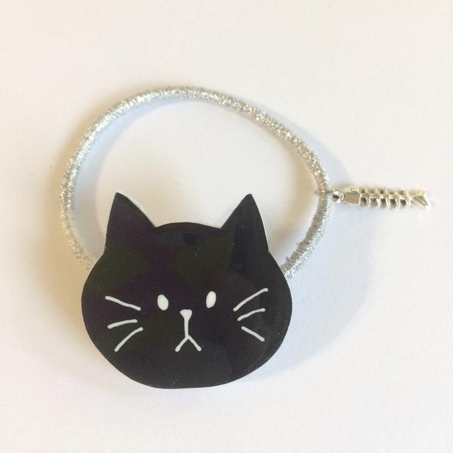 ねこのヘアゴム/黒ねこさん《プラバン》猫!ネコ!NECO!