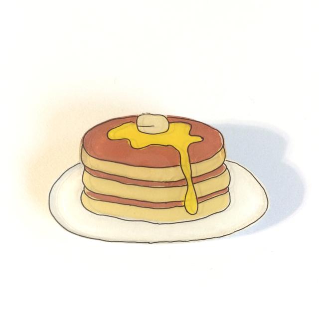 パンケーキのブローチ