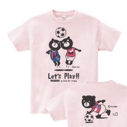 サッカー&イージー☆ベア WS〜WL S〜XL Tシャツ【受注生産品】