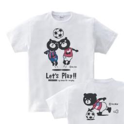 サッカー&イージー☆ベア 150.160(女性M.L) Tシャツ【受注生産品】