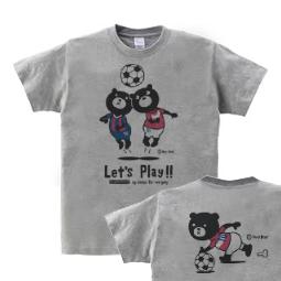 サッカー&イージー☆ベア 150.160(女性M.L)Tシャツ【受注生産品】