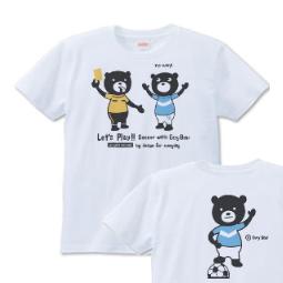 サッカー&イージー☆ベア S〜XL  Tシャツ【受注生産品】