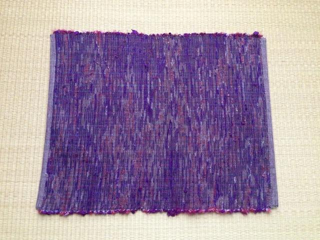 裂き織りランチョンマット(白)