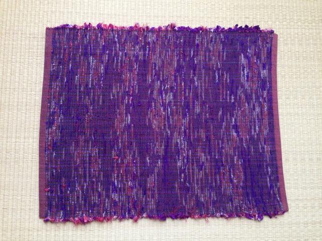 裂き織りランチョンマット(赤)