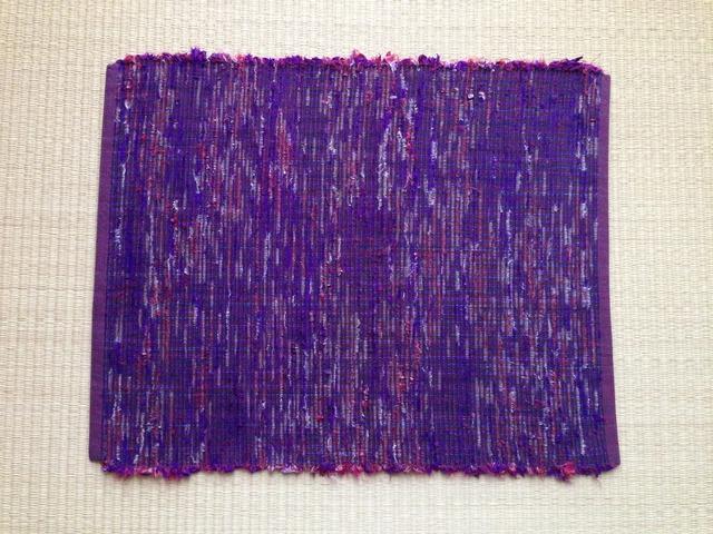 裂き織りランチョンマット(紫)