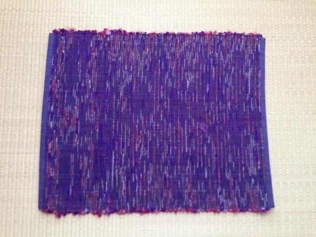 裂き織りランチョンマット(紺)