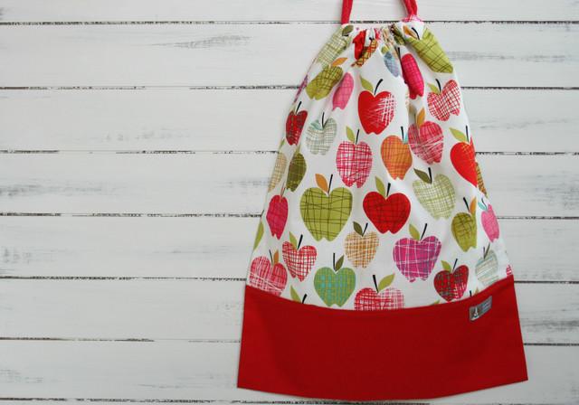 入園入学準備 いろいろりんごの体操着袋